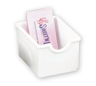 TableCraft 56W White Styrene Plastic Sugar Packet Holder