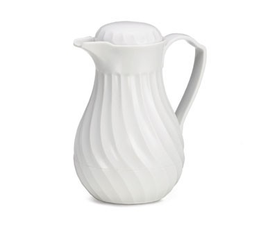 White Swirled Plastic 20 Oz. Connoisserve Coffee Decanter