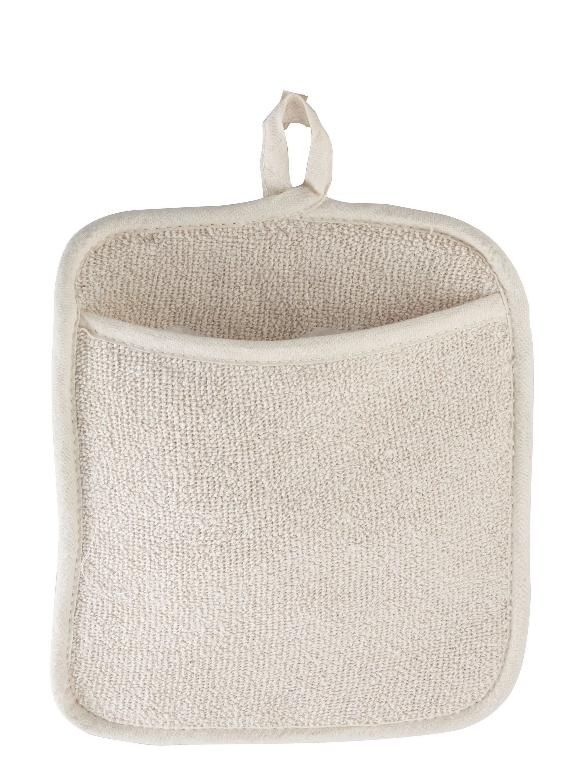 """Winco PH-9W White Terry Pot Holder with Pocket 8-1/2"""" x 9-1/2"""""""