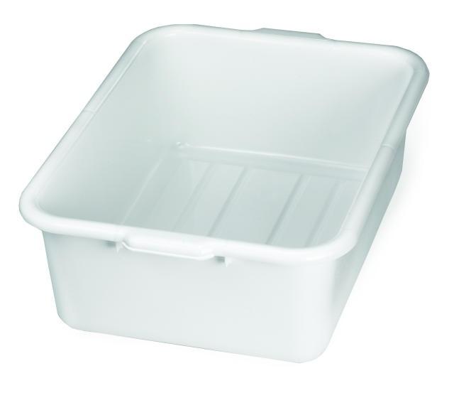 "TableCraft 1537W White Tote Box 21-1/4"" x 15-3/4"" x 7"""