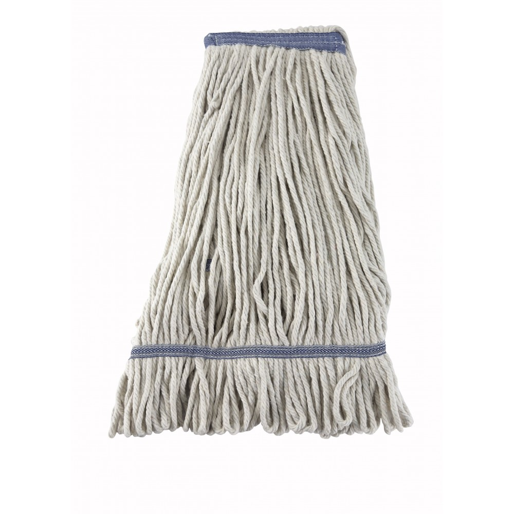 White Yarn 24 Oz. Looped-End Wet Mop Head - 600 G Capacity