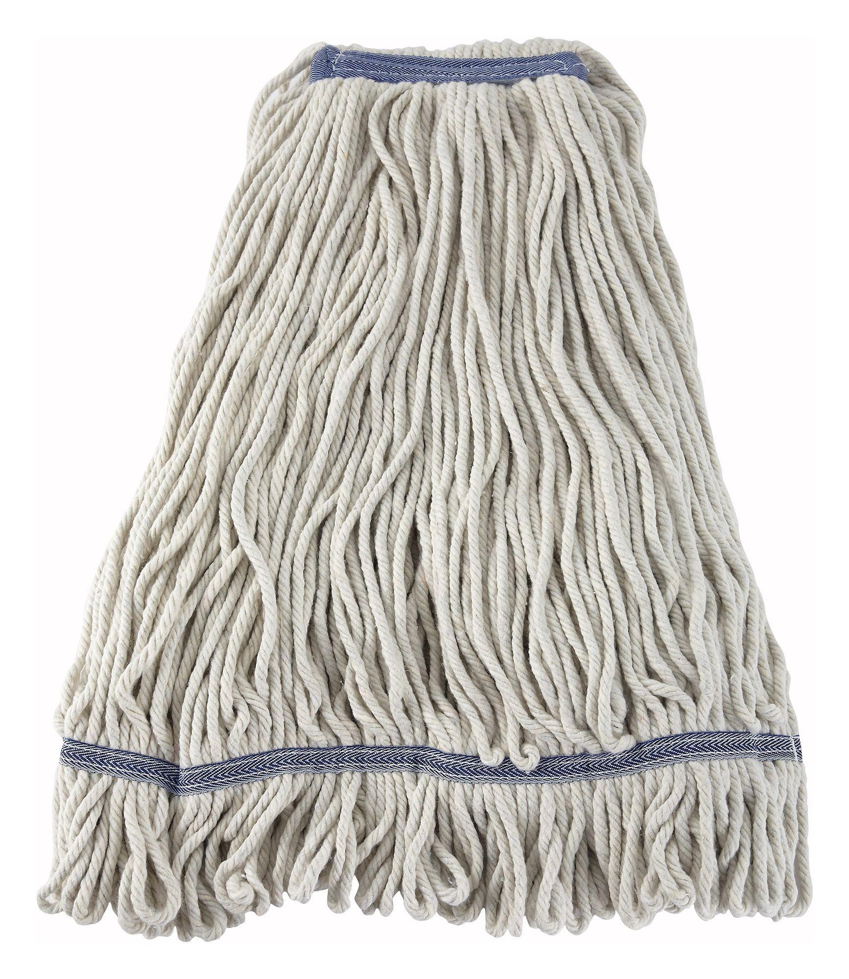 White Yarn 32 Oz. Looped-End Wet Mop Head - 800 G Capacity