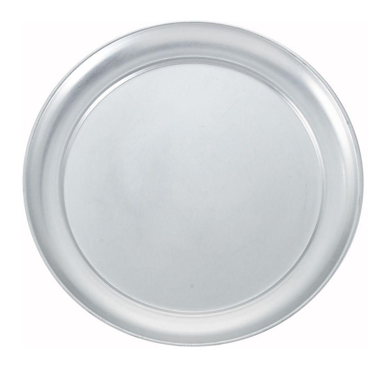 "Winco APZT-11 Wide-Rimmed Aluminum Pizza Pan 11"" Dia."