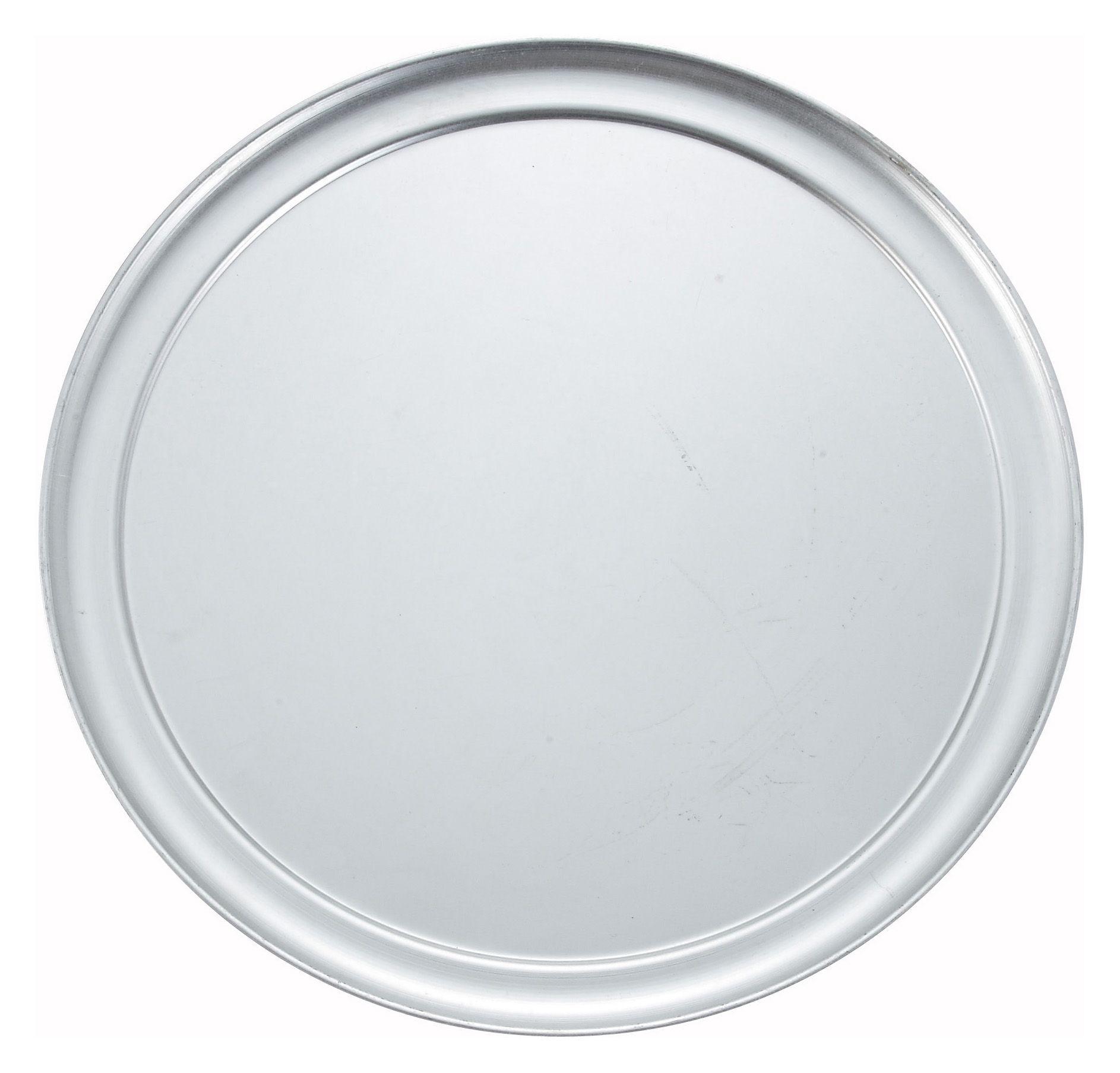"Winco APZT-13 Wide-Rimmed Aluminum Pizza Pan 13"" Dia."