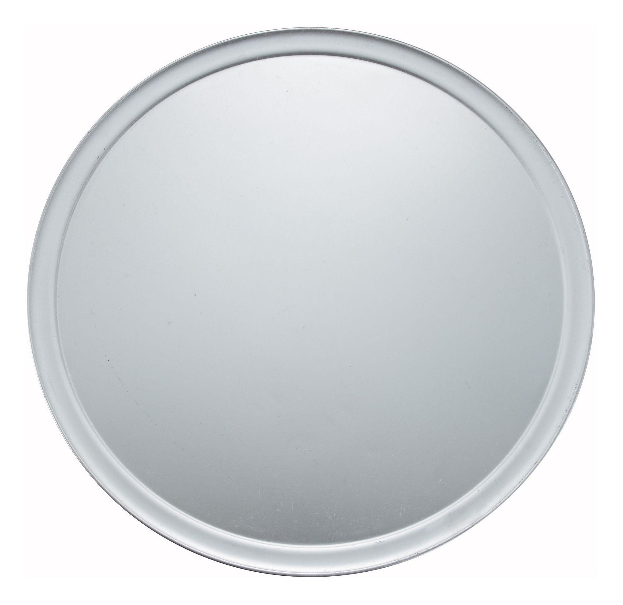"Winco APZT-18 Wide-Rimmed Aluminum Pizza Pan 18"" Dia."