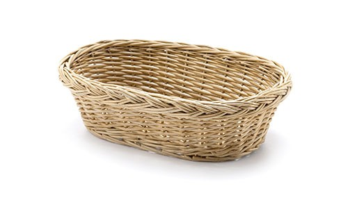 "TableCraft 1674 Oval Handwoven Willow Basket, 9-1/2"" x 6-1/2"" x 3"""