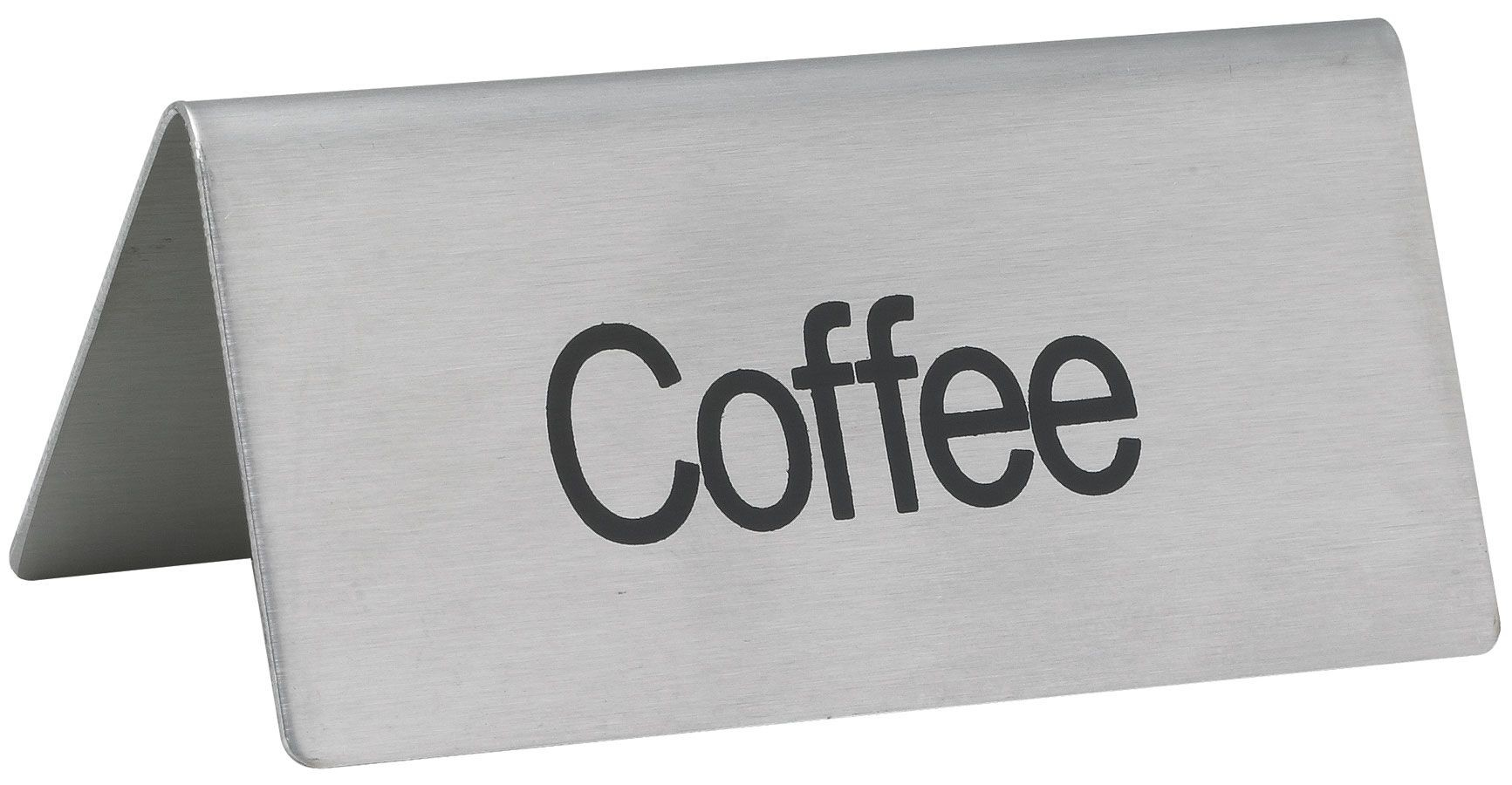 "Winco SGN-103 Stainless Steel Tent Sign ""Coffee"""