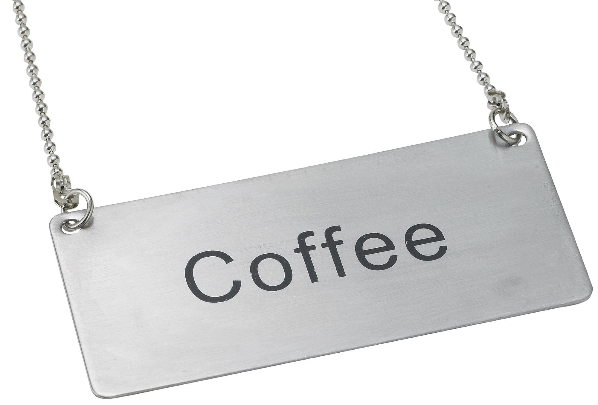 "Winco SGN-203 Stainless Steel Chain Sign ""Coffee"""