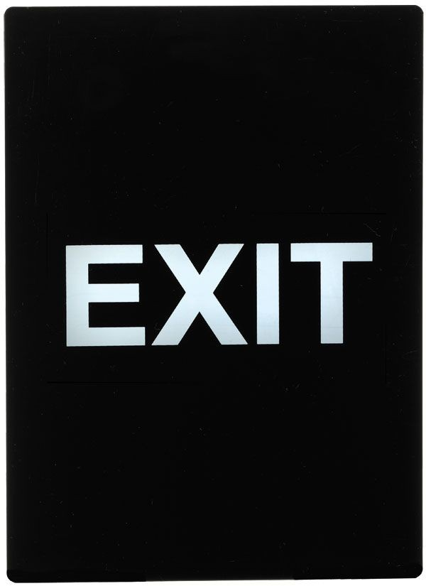 "Winco SGN-805 ""Exit"" Stanchion Frame Sign"