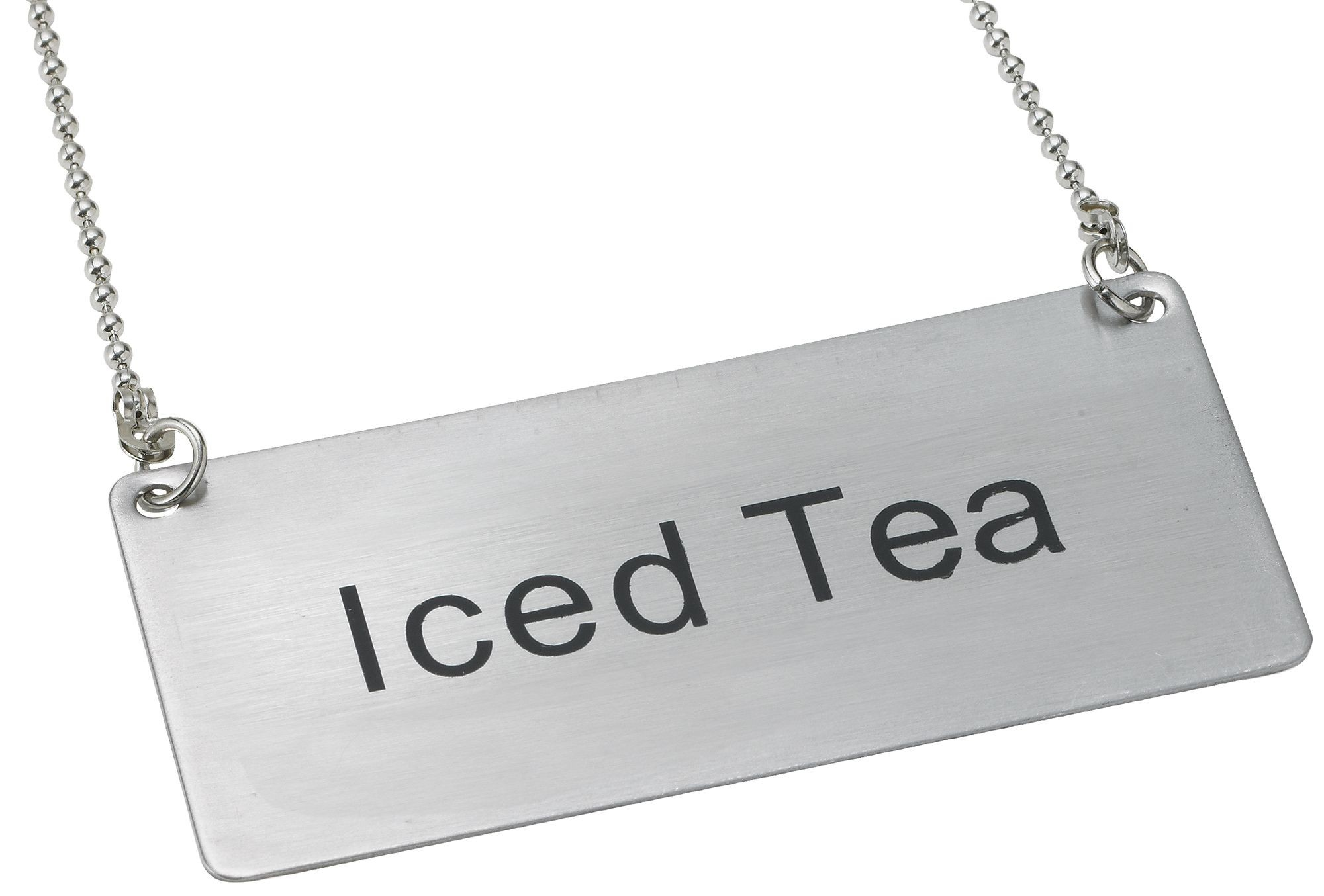 "Winco SGN-205 Stainless Steel Chain Sign ""Iced Tea"""