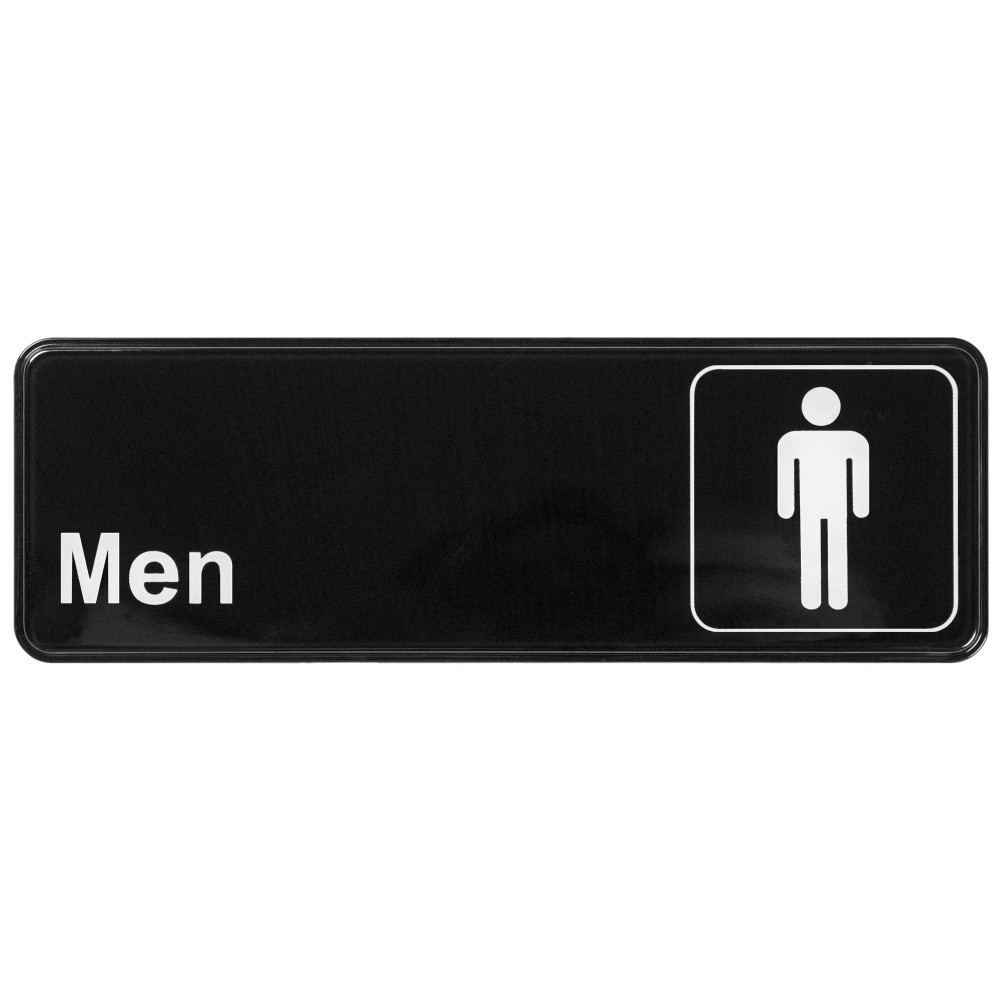 "Winco SGN-311 ""Men's Bathroom"" Informational Sign, 9"" x 3"""