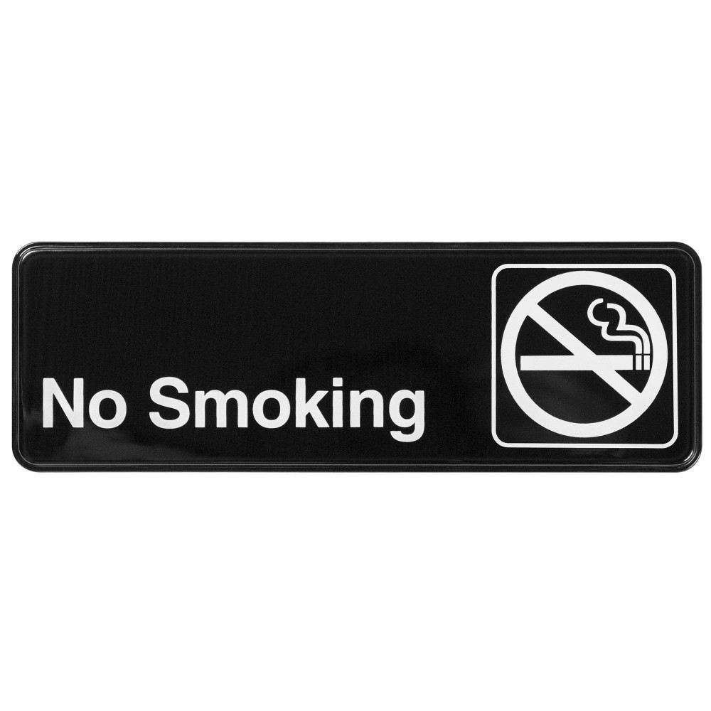 "Winco sgn-310 ""No Smoking"" Informational Sign, 9"" x 3"""