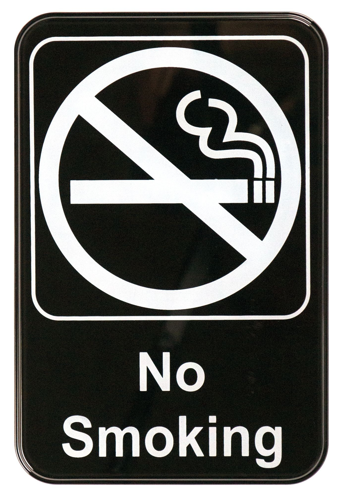 """Winco SGN-601 """"No Smoking"""" Informational Sign, 9"""" x 6"""""""