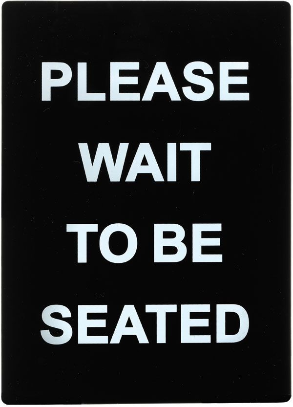"Winco SGN-802 ""Please Wait To Be Seated"" Stanchion Frame Sign"