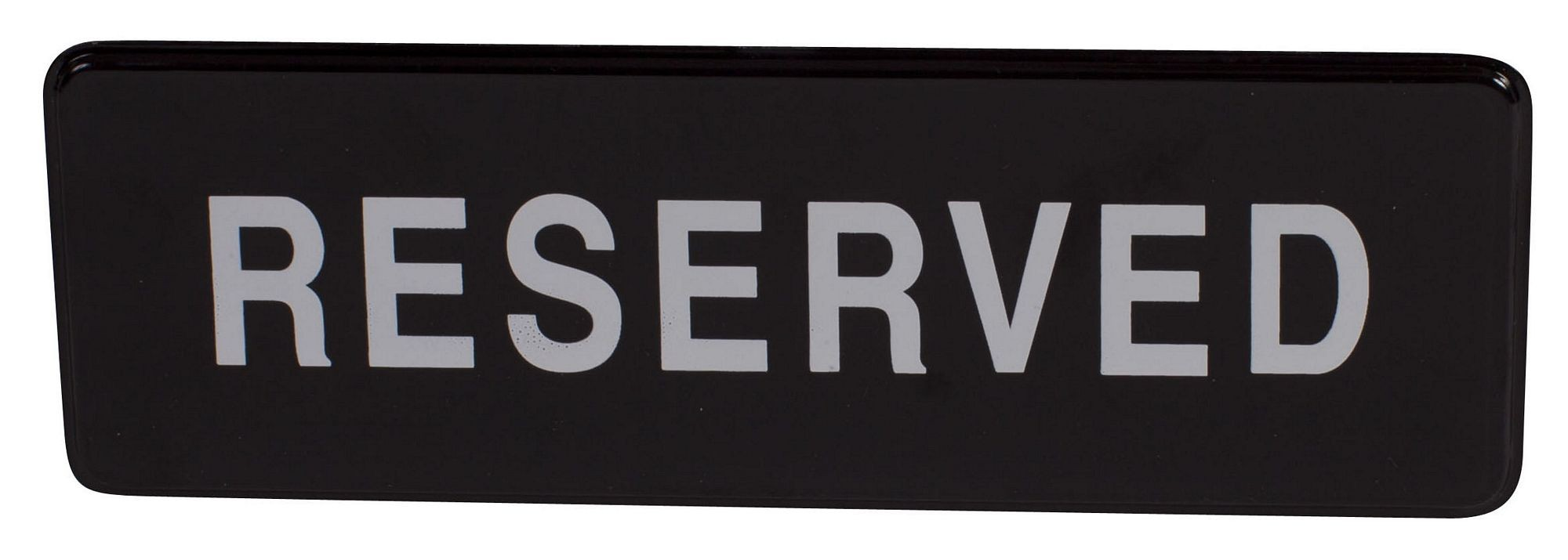 "Winco SGN-328 ""Reserved"" Informational Sign, 9"" x 3"""
