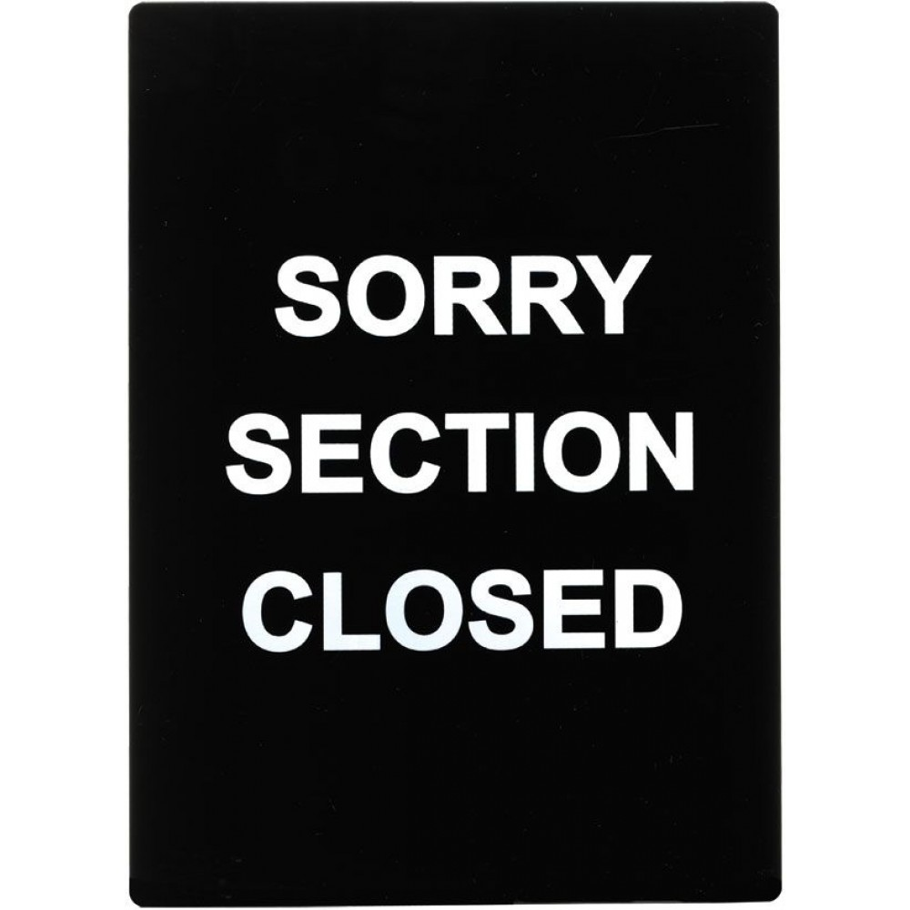 "Winco SGN-804 ""Sorry Section Closed"" Stanchion Frame Sign"
