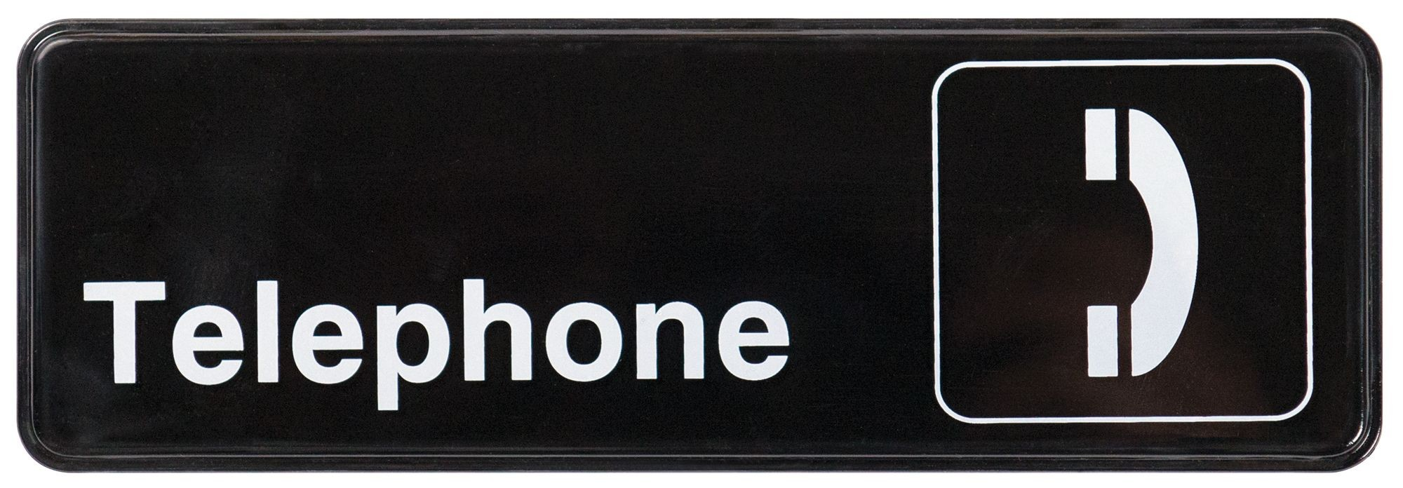 "Winco SGN-325 ""Telephone"" Informational Sign, 9"" x 3"""