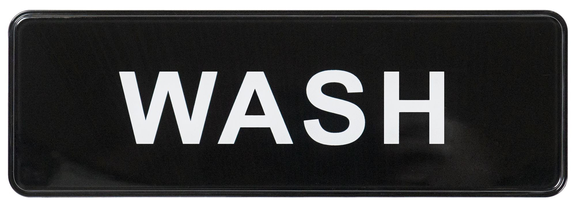"Winco SGN-318 ""Wash"" Informational Sign, 9"" x 3"""