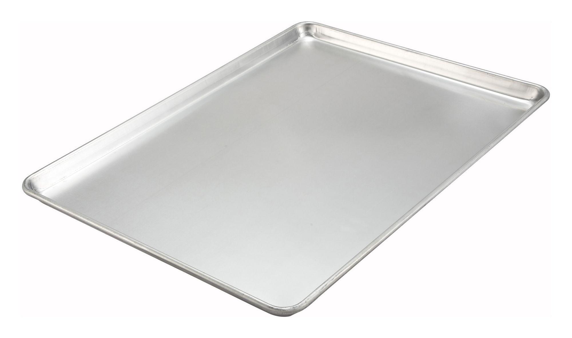 "Winco ALXP-2216H 16"" x 22"" Aluminum 18 Gauge Sheet Pan"
