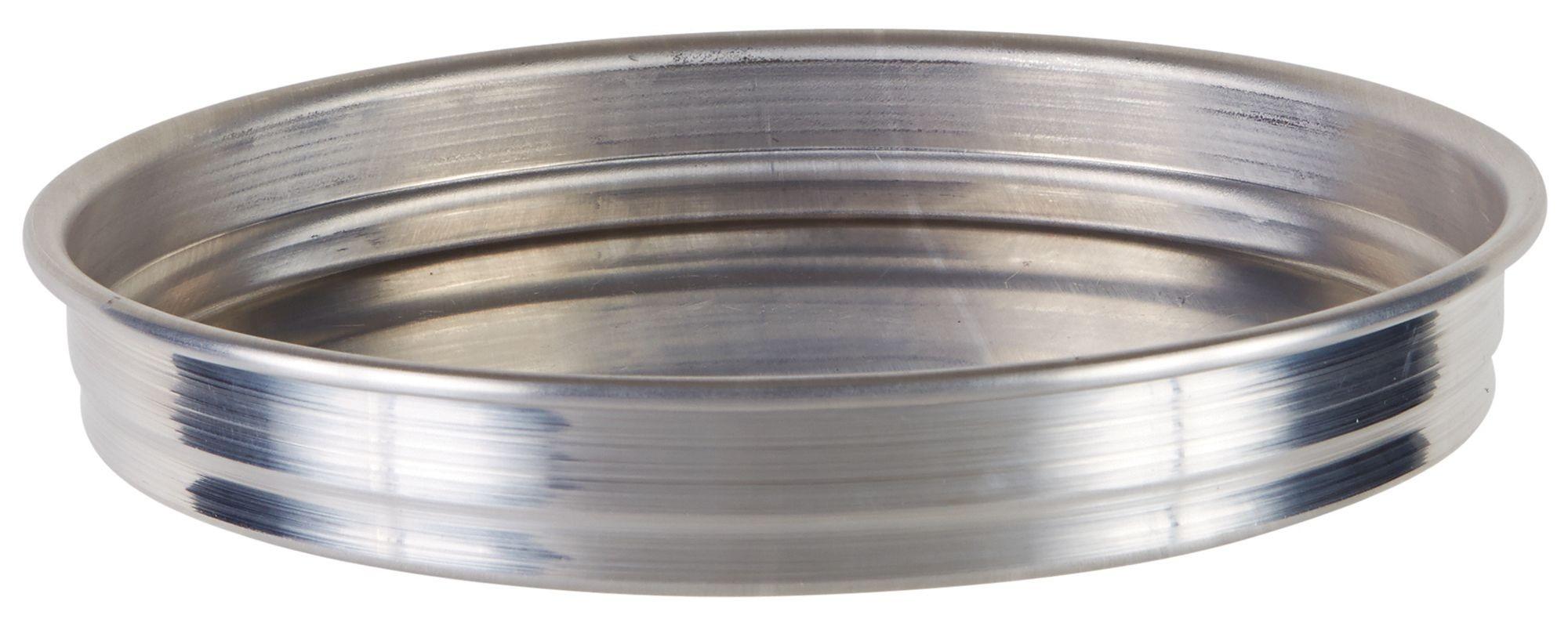 "Winco APZK-0815 8"" x 1-1/2"" Stackable Aluminum Pizza Pan"