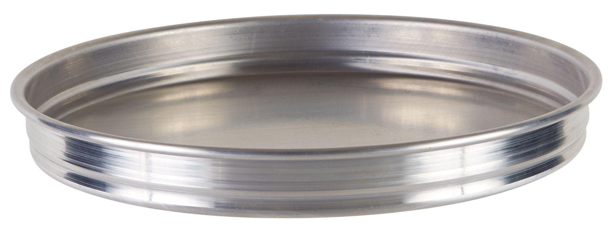 "Winco APZK-1015 10"" x 1-1/2"" Stackable Aluminum Pizza Pan"