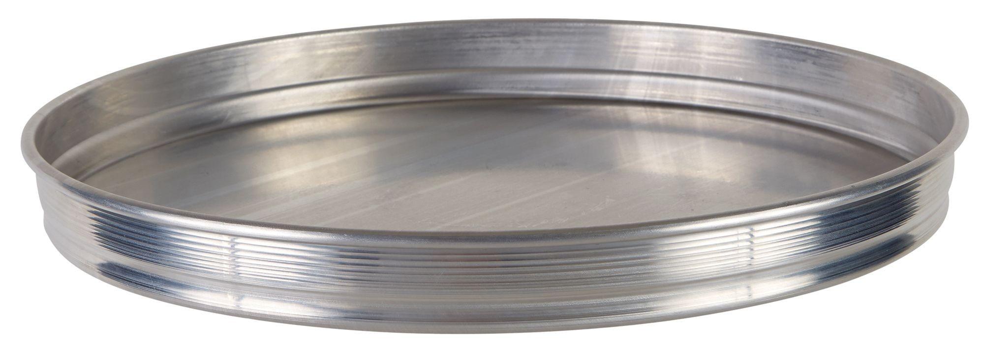 "Winco APZK-1215 12"" x 1-1/2"" Stackable Aluminum Pizza Pan"