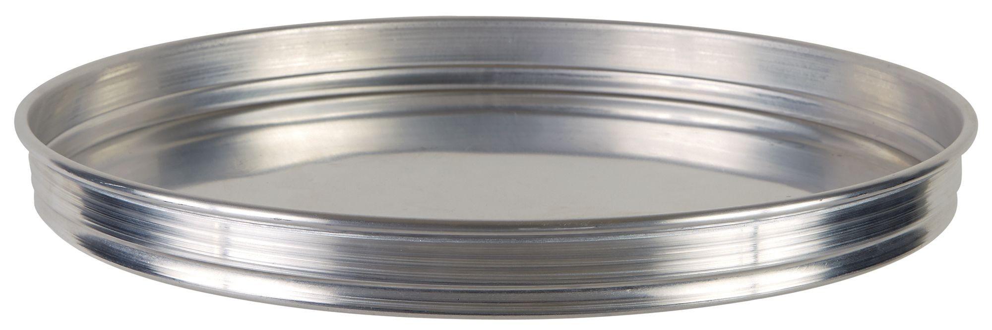 "Winco APZK-1415 14"" x 1-1/2"" Stackable Aluminum Pizza Pan"