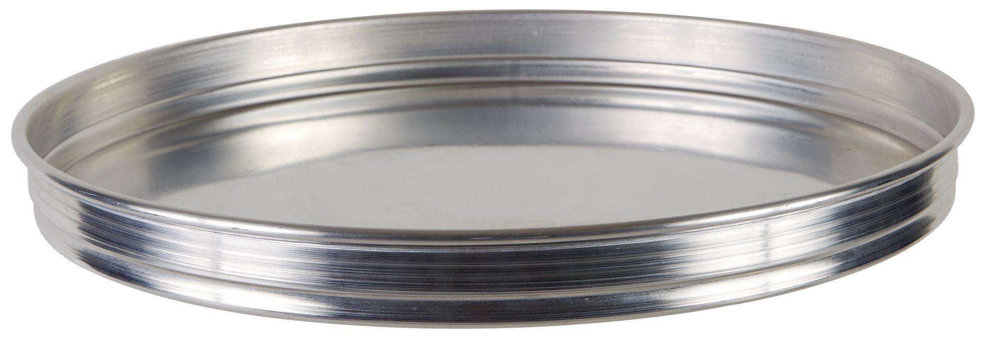 "Winco APZK-1615 16"" x 1-1/2"" Stackable Aluminum Pizza Pan"