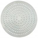 "Winco APZP-13SP 13"" Aluminum Super-Perforated Pizza Disk with 292 Holes"