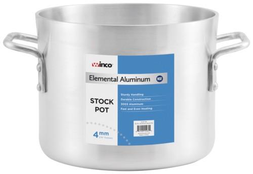 Winco AXS-80 Aluminum Stock Pot 80 Qt.