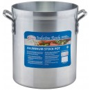 Winco AXSI-10 10 Qt. Induction Ready Aluminum Stock Pot with Stainless Steel Bottom