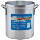 Winco AXSI-16 16 Qt. Induction Ready Aluminum Stock Pot with Stainless Steel Bottom