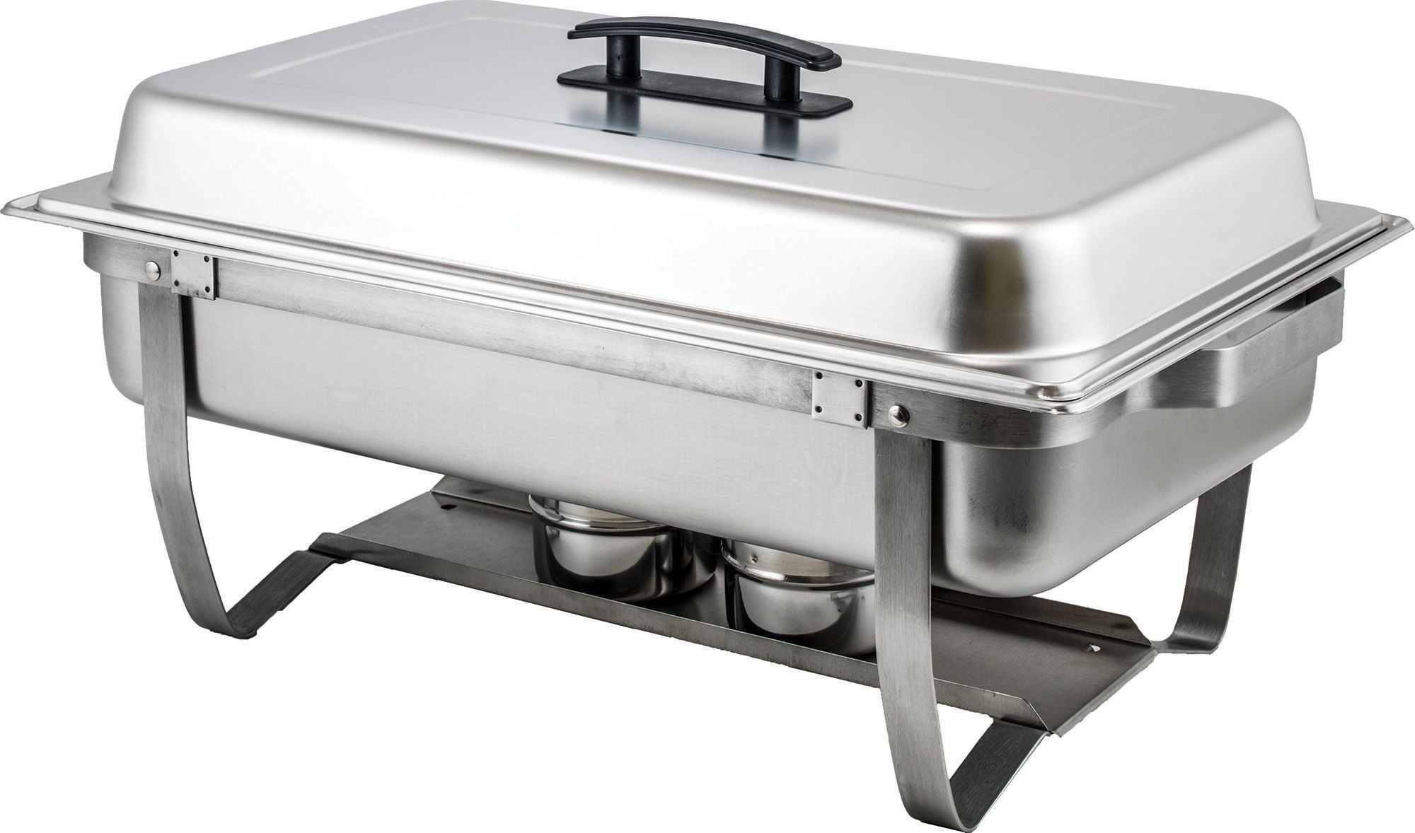 Winco C-4080 Full Size 8 Qt. Stainless Steel Chafer with Folding Frame