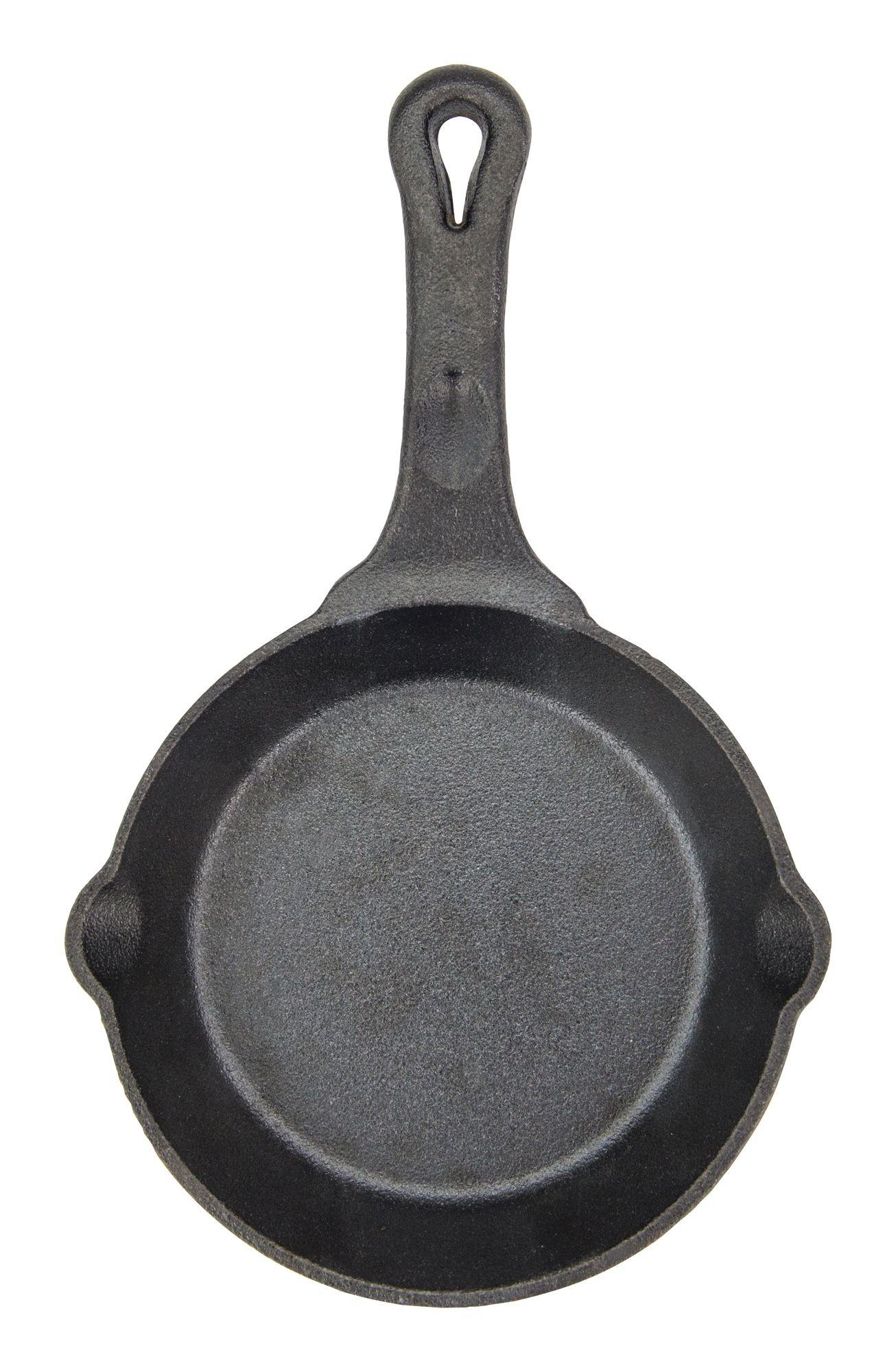"""Winco CAST-6 FireIron 6"""" Pre-Seasoned Cast Iron Skillet"""