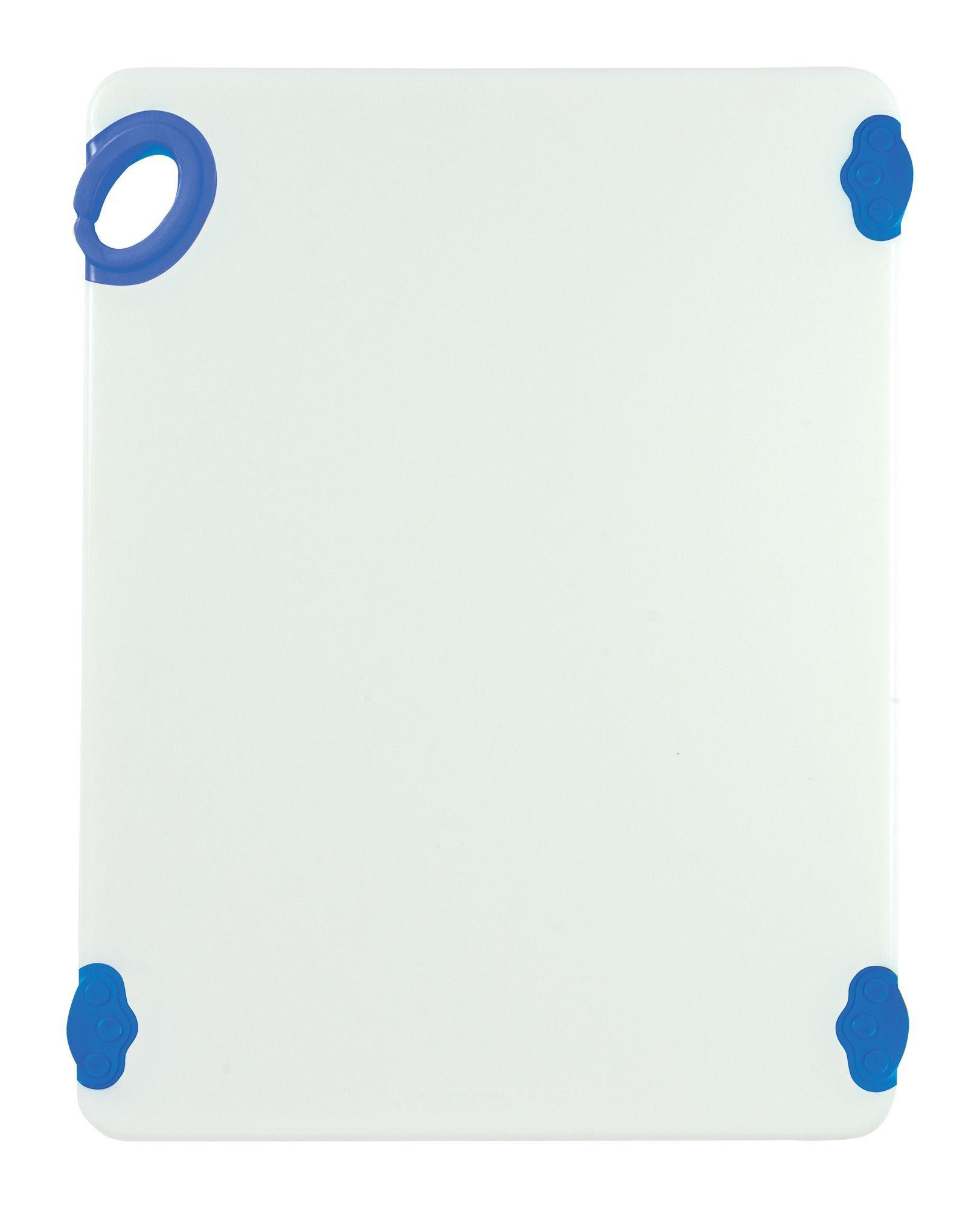 "Winco CBN-1520BU Blue StatikBoard Cutting Board with Hook, 15"" x 20"" x 1/2"""