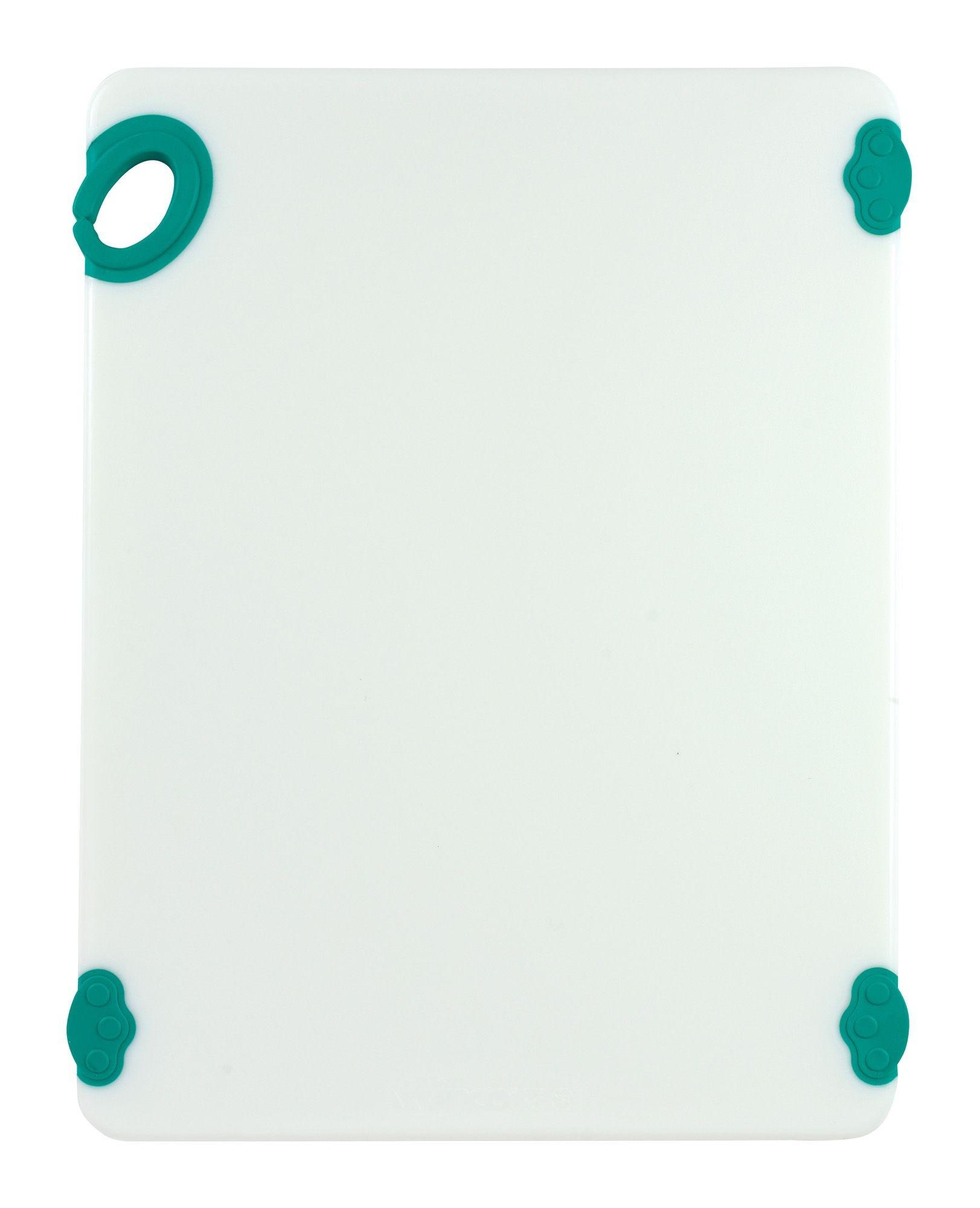 "Winco CBN-1520GR Green StatikBoard Cutting Board with Hook, 15"" x 20"" x 1/2"""