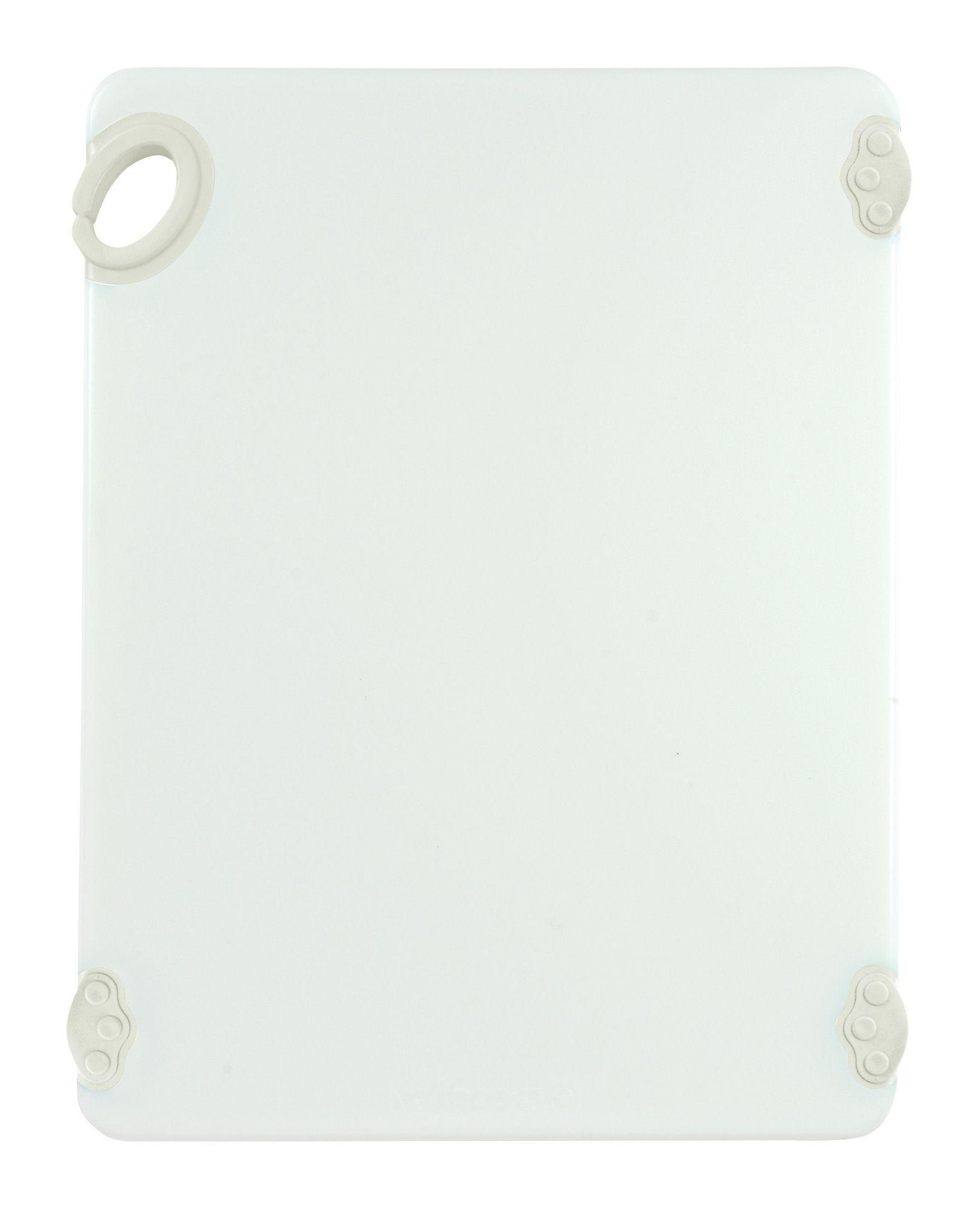 "Winco CBN-1520WT White StatikBoard Cutting Board with Hook, 15"" x 20"" x 1/2"""