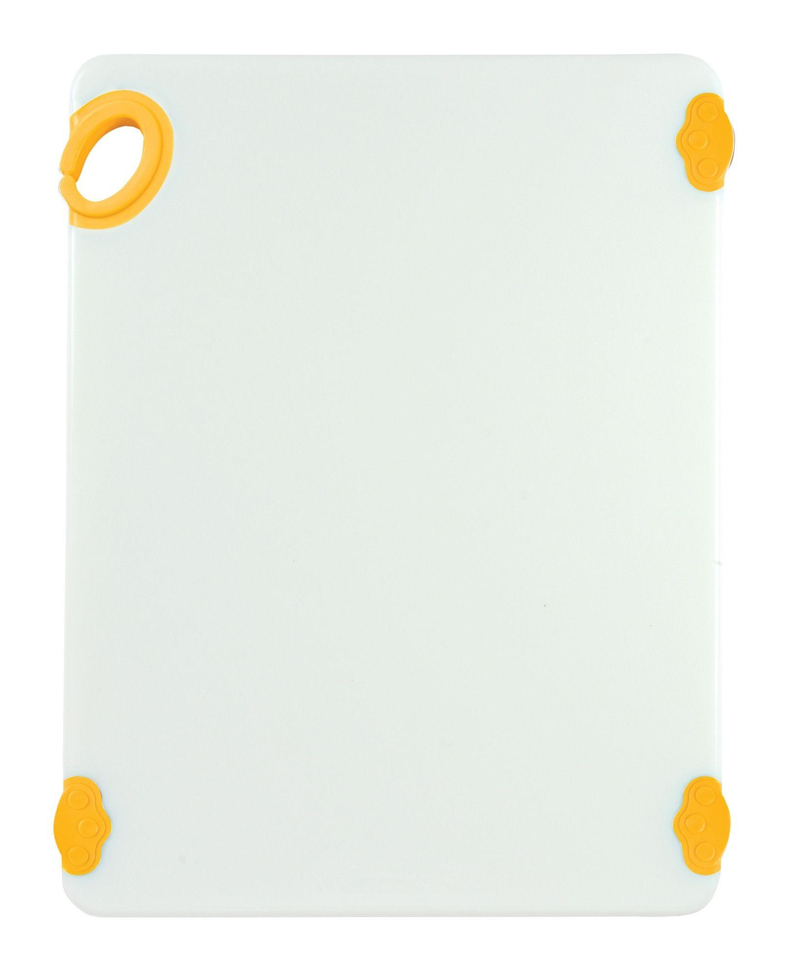 "Winco CBN-1520YL Yellow StatikBoard Cutting Board with Hook, 15"" x 20"" x 1/2"""