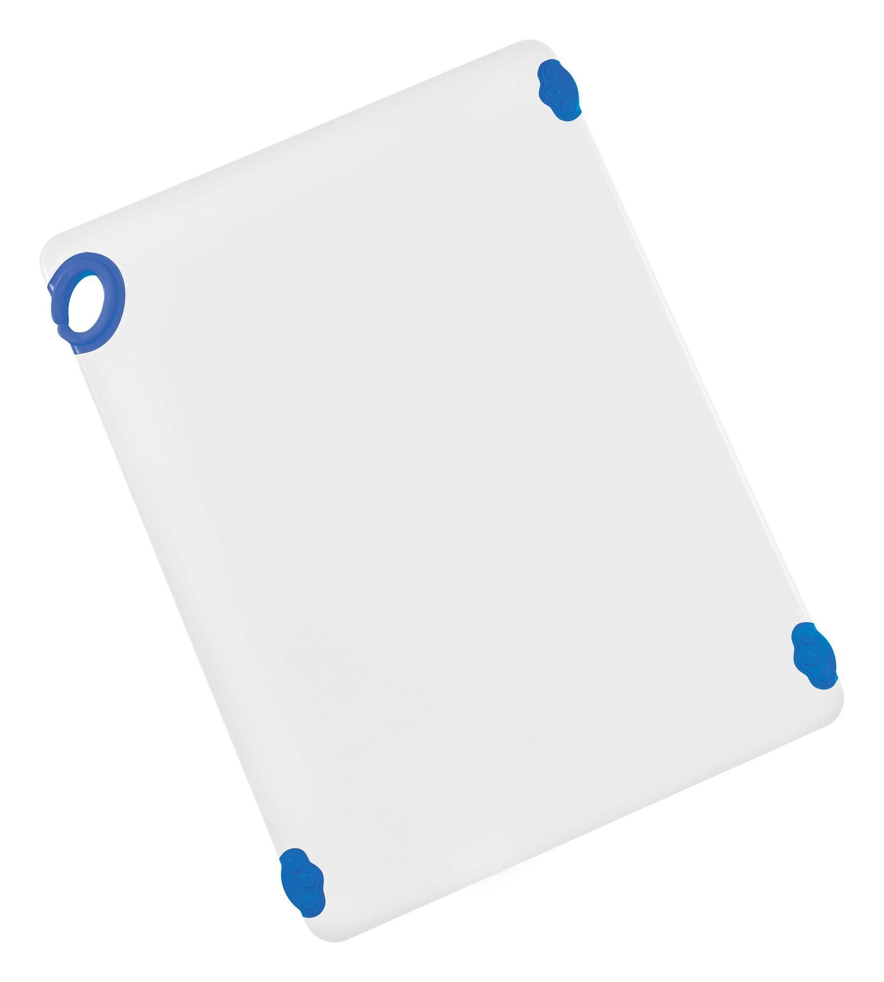 "Winco CBN-1824BU Blue StatikBoard Cutting Board with Hook, 18"" x 24"" x 1/2"""