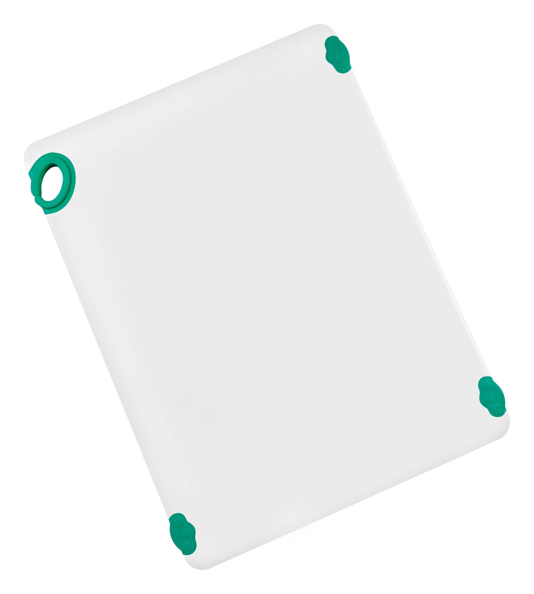 "Winco CBN-1824GR Green StatikBoard Cutting Board with Hook,18"" x 24"" x 1/2"""