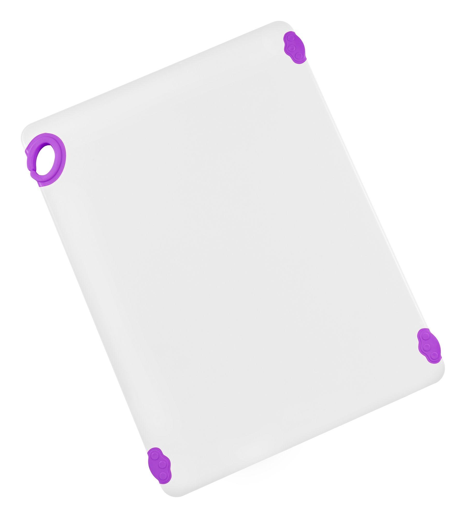 "Winco CBN-1824PP Purple StatikBoard Cutting Board with Hook, 18"" x 24"" x 1/2"""