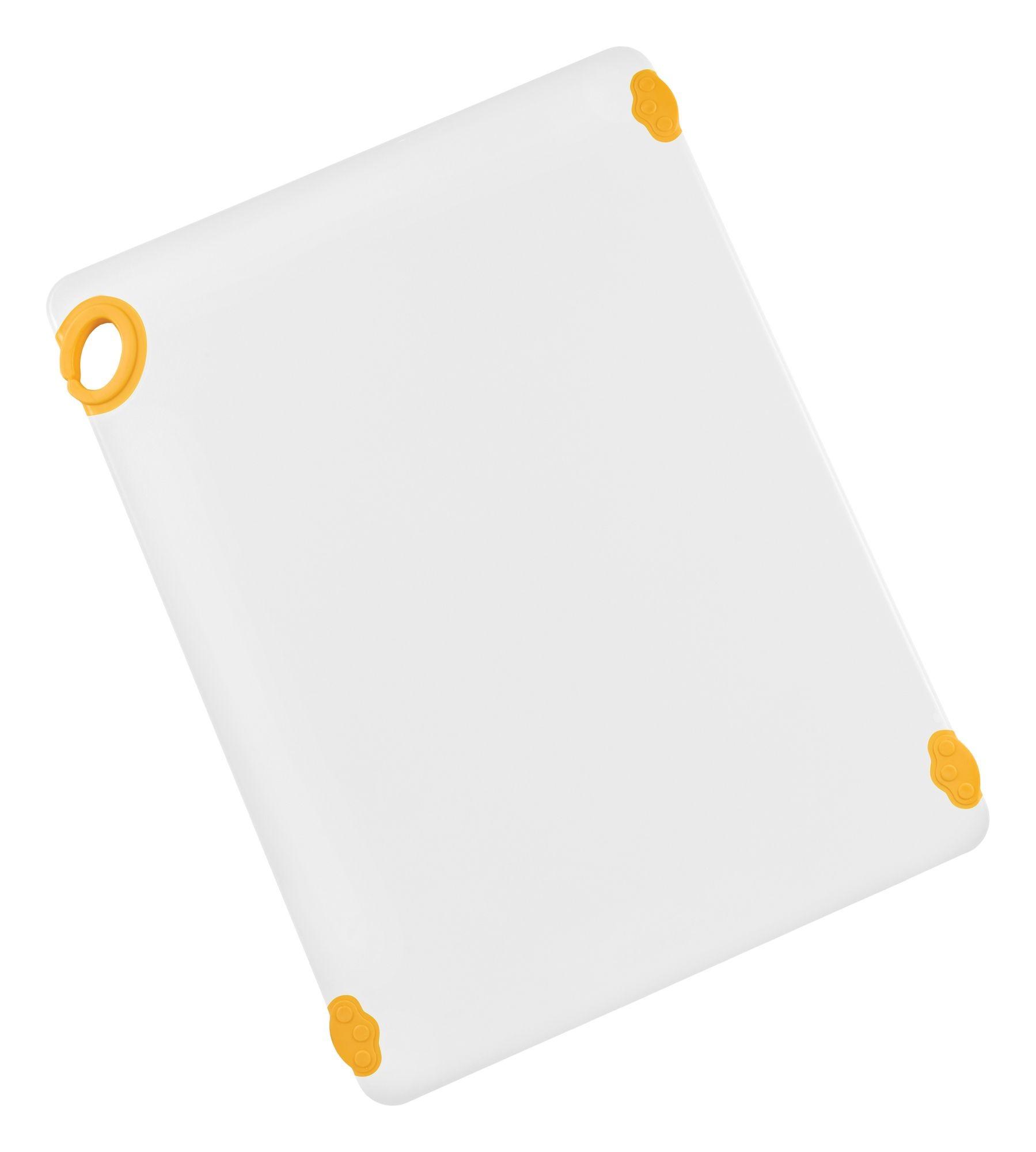 "Winco CBN-1824YL Yellow StatikBoard Cutting Board with Hook, 18"" x 24"" x 1/2"""