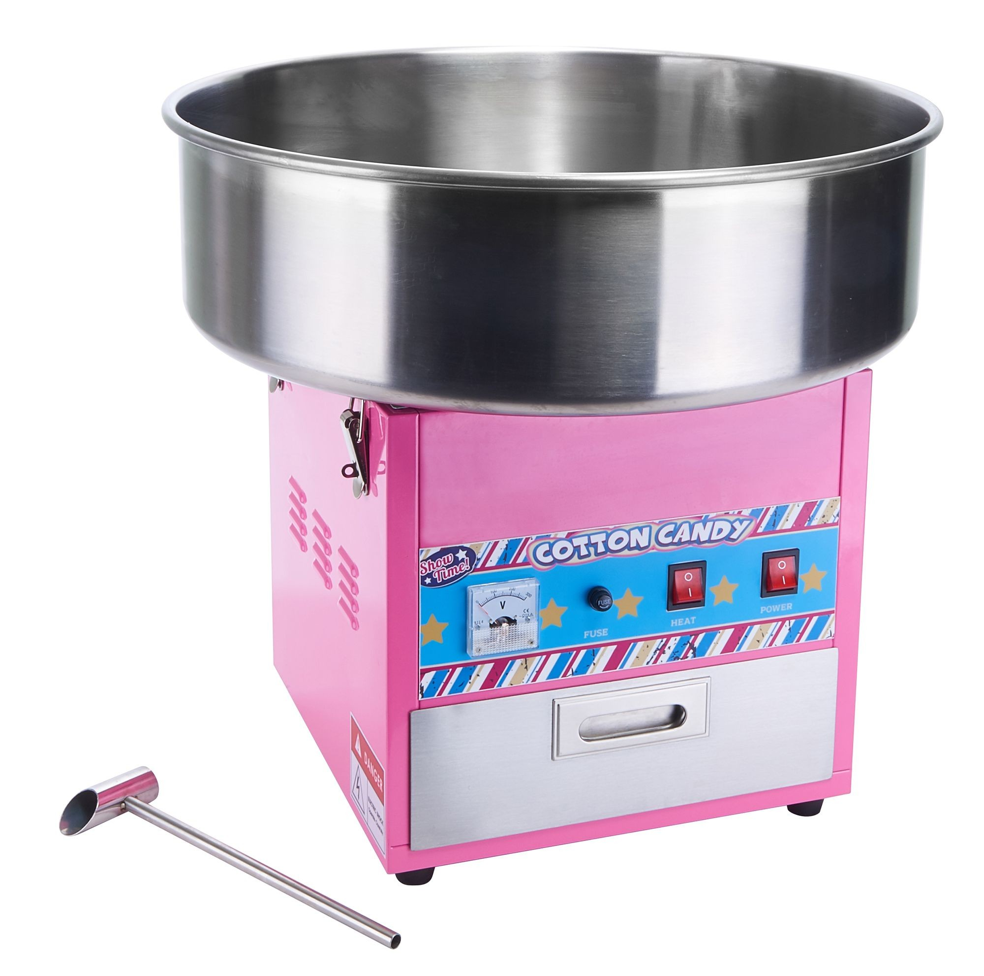 """Winco CCM-28 ShowTime Electric Cotton Candy Machine with 20.5"""" Bowl"""