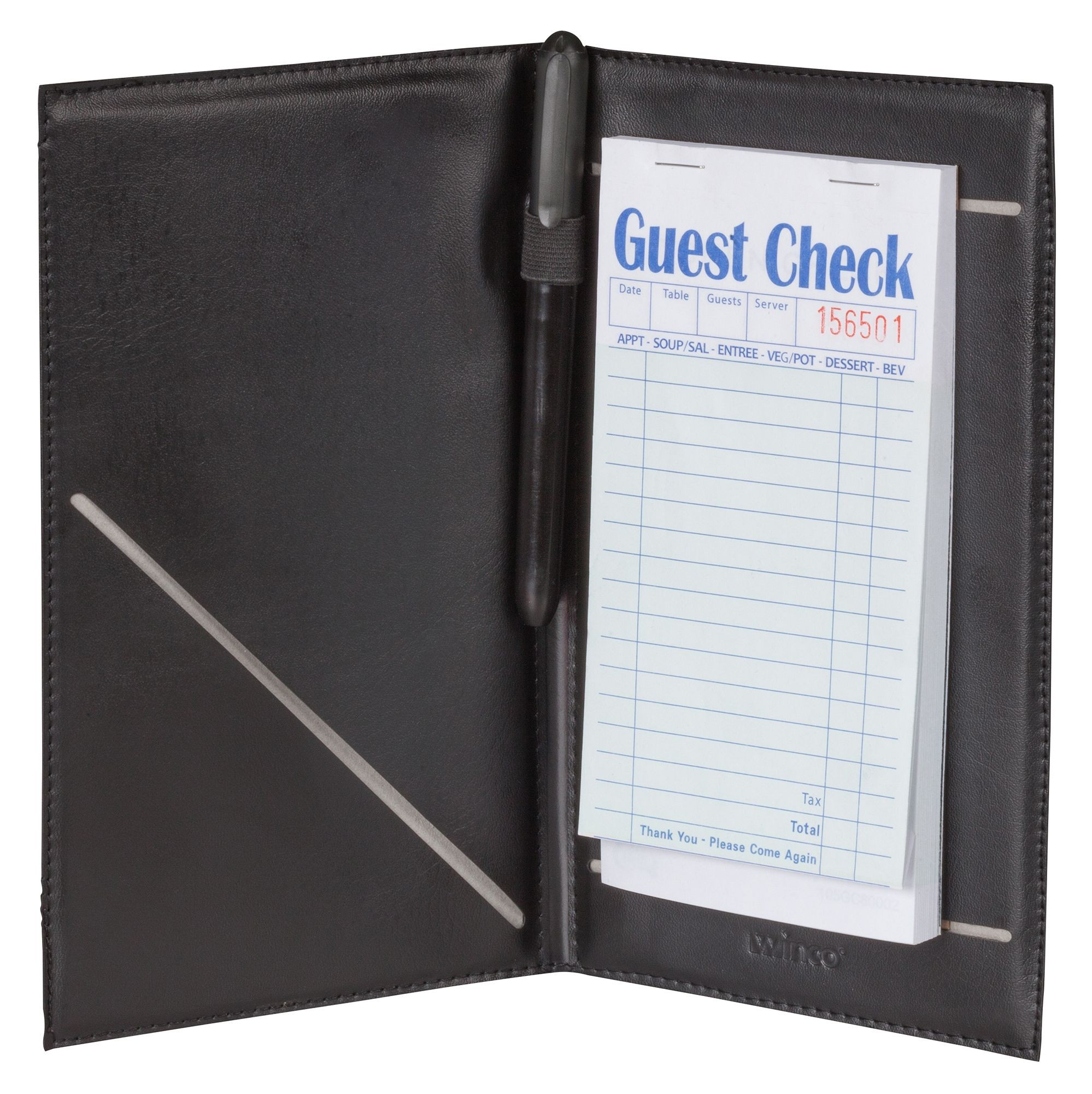 "Winco CHK-2K Guest Check Holder, 5-1/4"" x 8-1/2"""