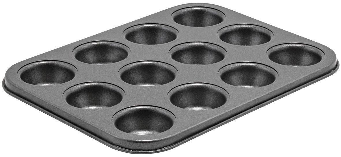 Winco CMF-12M 12 Cup Carbon Steel Non-Stick Mini Muffin Pan