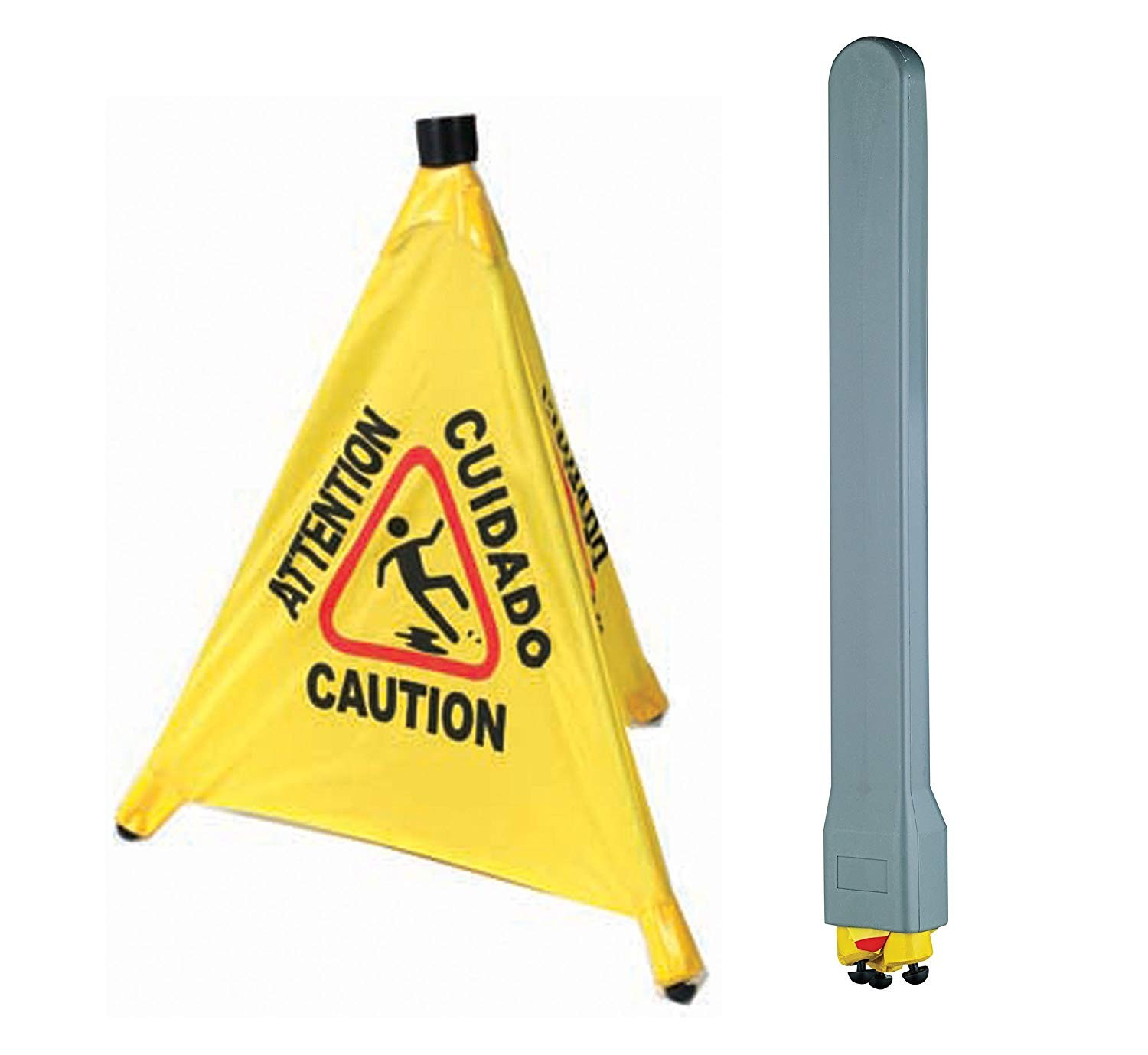 Winco CSF-SET Pop-Up Safety Cone Caution Sign Set