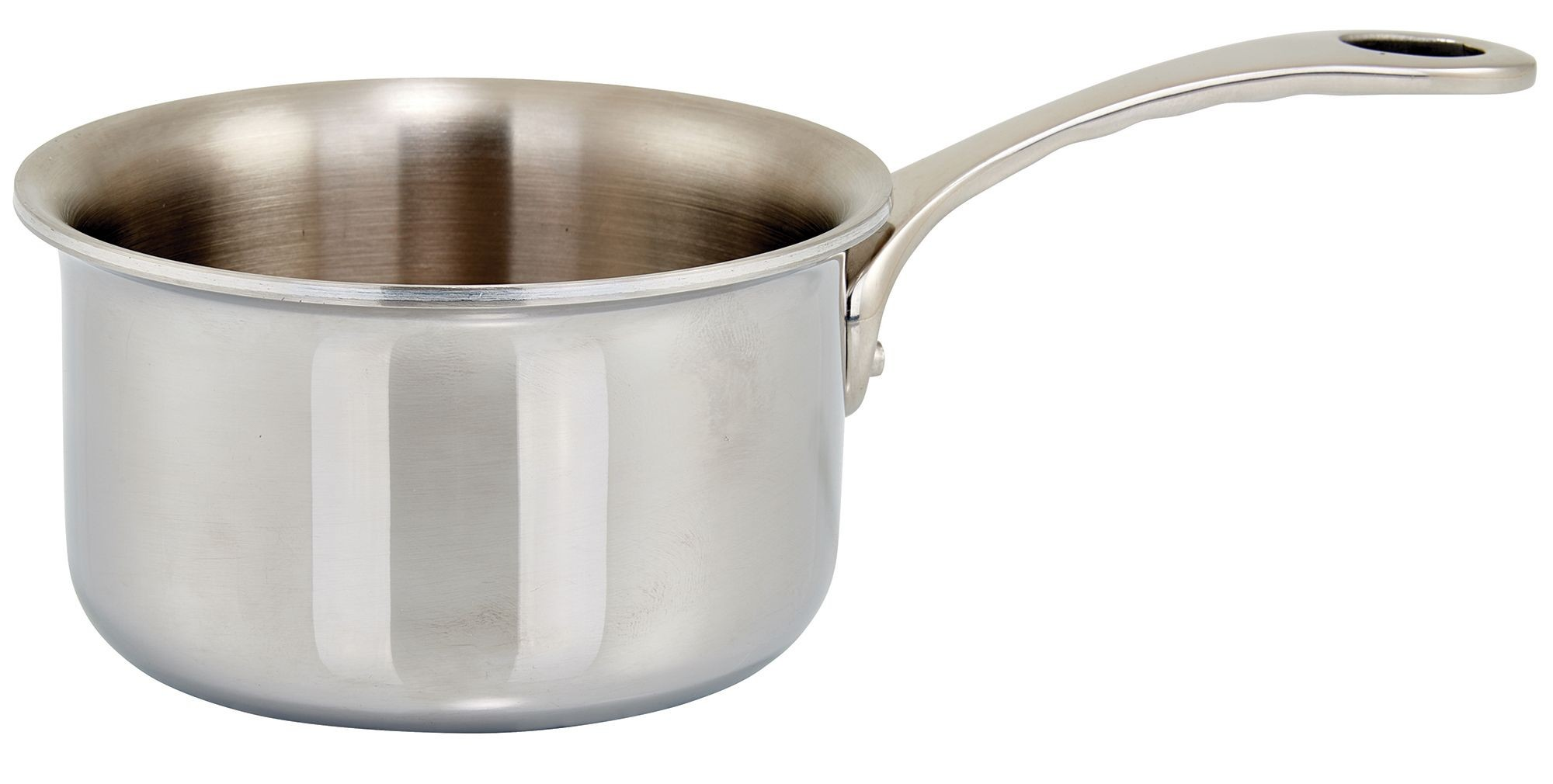 """Winco DCSP-3S 3.5"""" Try-Ply Stainless Steel 11 oz. Mini Sauce Pan"""