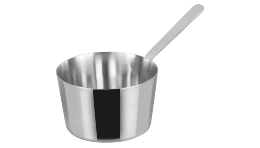 "Winco DCWB-102S Stainless Steel 3-3/8"" Dia x 2-3/8"" H Mini Tapered Sauce Pan"