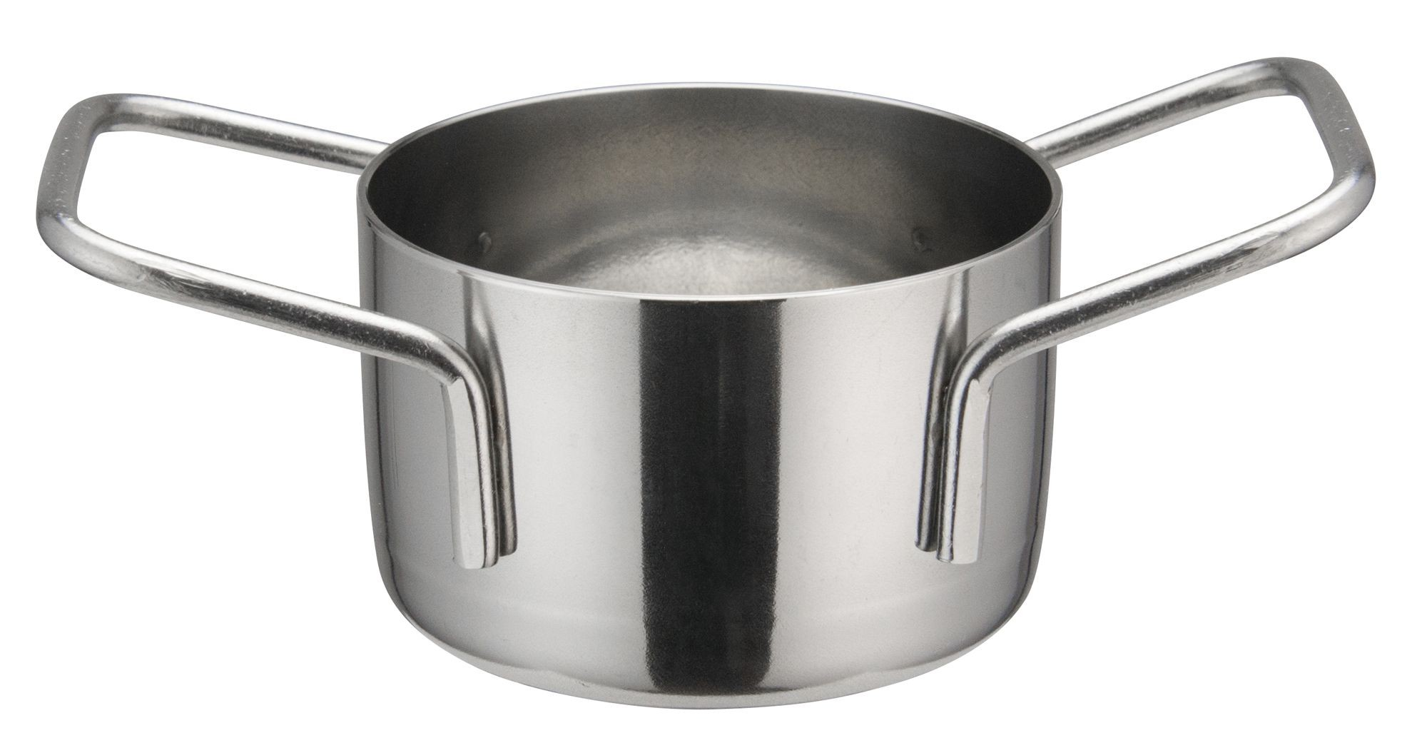 """Winco DCWE-101S Stainless Steel 2-3/4"""" Dia x 1-3/4"""" H Mini Casserole"""