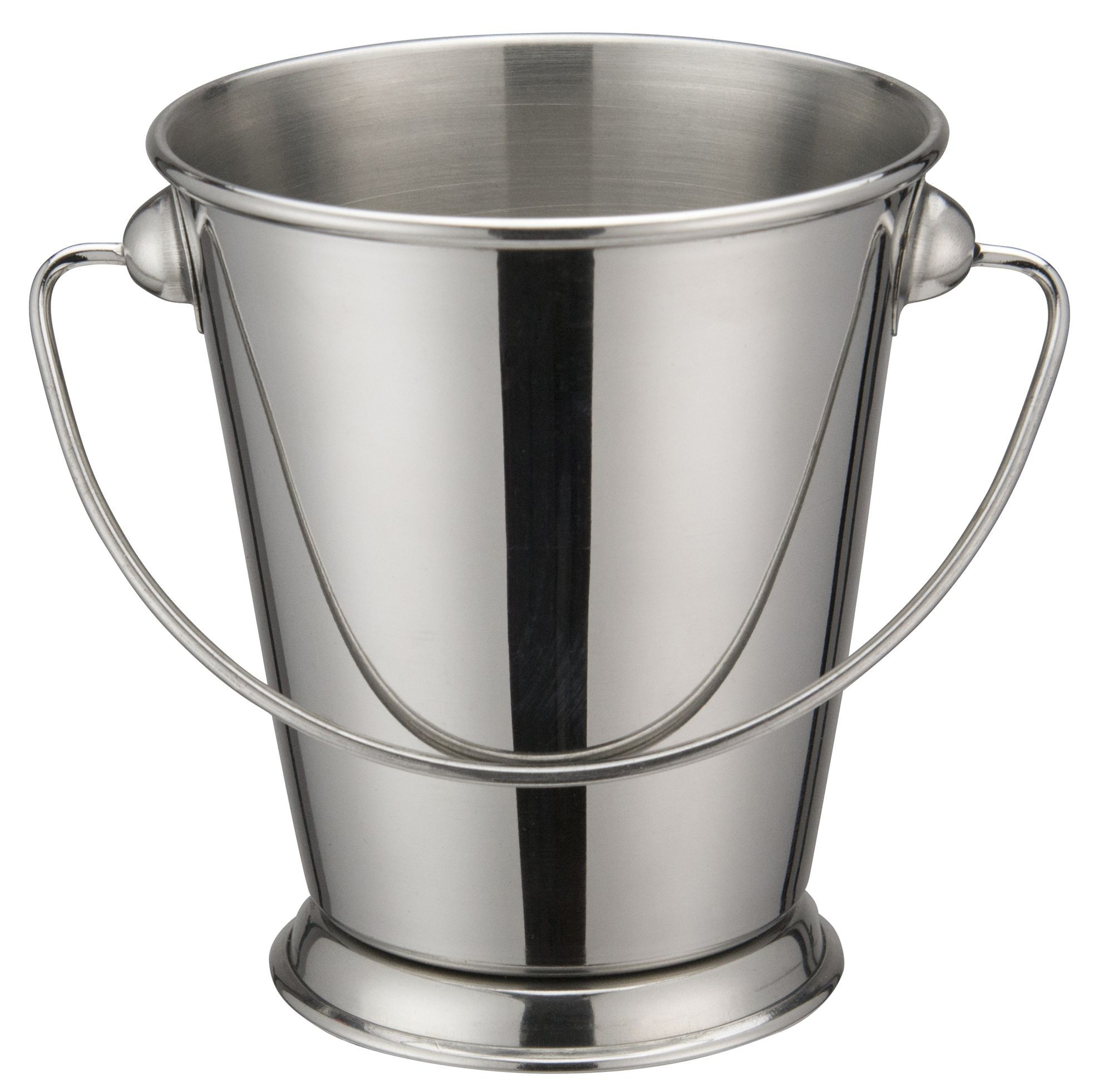 "Winco DDSA-106S Stainless Steel 3-3/4"" Dia x 3-3/4"" H Mini Pail"